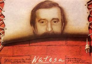 Lech Wałęsa Portraitsausstellung Mieczysław Górowski Polnisches Ausstellungsplakat