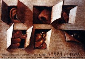 Gerettete Güter, Ausstellung Mieczysław Górowski Polnisches Ausstellungsplakat