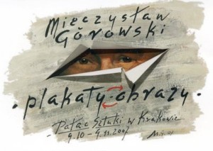 Plakate, Bilder – Kunstpalast Krakau Mieczysław Górowski Polnisches Ausstellungsplakat