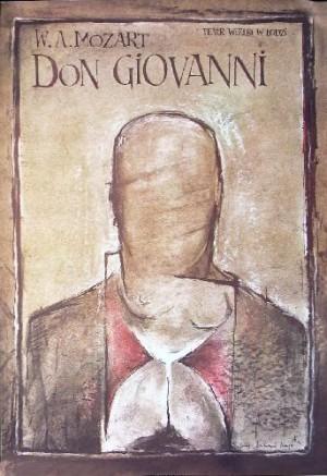 Don Giovanni Ryszard Kaja Polnisches Opernplakat