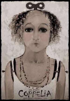Coppelia Das Mädchen mit den Glasaugen Ryszard Kaja Polnisches Opernplakat