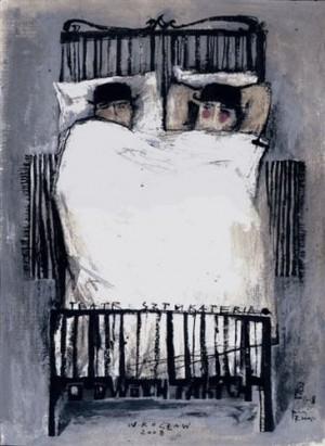 Die zwei - About These Two Ryszard Kaja Polnisches Opernplakat
