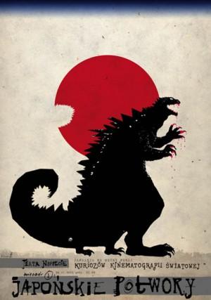 Japanische Monsterfilme Ryszard Kaja Polnisches Plakat