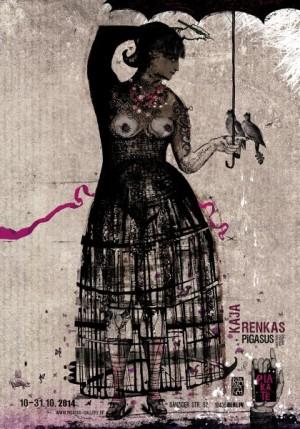 Kaja Renkas Plakatkunst Ausstellung Ryszard Kaja Polnisches Ausstellungsplakat