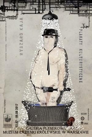 Plakaty kulturystyczne - w Łazienkach Królewskich Ryszard Kaja Polnische Plakate