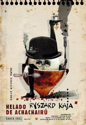 Achachairú Eiscreme Ryszard Kaja Polnisches Ausstellungsplakat