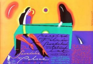 Schwedische Tage in Polen Roman Kalarus Polnische Plakate