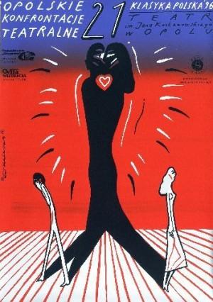 Theaterkonfrontationen Oppeln 21. Roman Kalarus Polnische Plakate