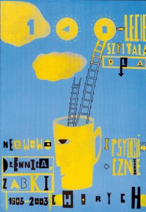 Klinik für Geistes- und Nervenkranke 100. Jahrestag Sebastian Kubica Polnisches Plakat