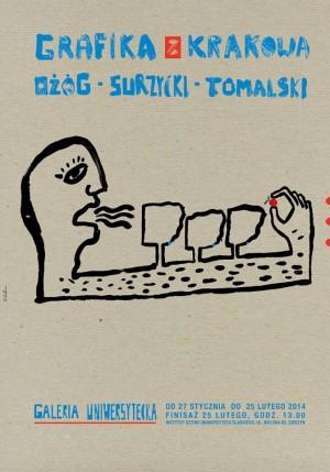 Grafik aus Krakau - Ożóg, Surzycki, Tomalski Sebastian Kubica Polnisches Ausstellungsplakat