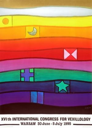 Internationale Kongress für Flaggenkunde 16. Jan Lenica Polnisches Plakat