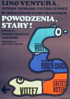 Adieu Bulle Pierre Granier-Deferre Jan Młodożeniec Polnisches Filmplakat