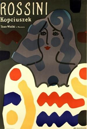 Aschenputtel, oder Der Triumph des Guten Jan Młodożeniec Polnisches Opernplakat
