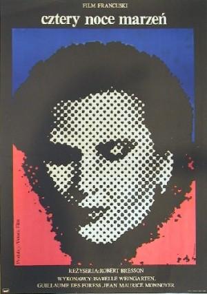 Vier Nächte eines Träumers Robert Bresson Jacek Neugebauer Polnische Plakate
