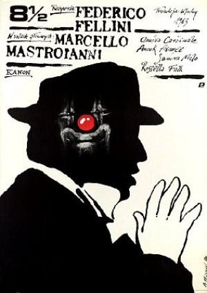 Achteinhalb Federico Fellini 8,5 Andrzej Pągowski Polnische Plakate