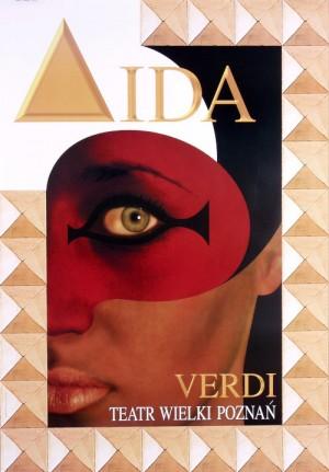 Aida Giuseppe Verdi Jean-Antoine Hierro Polnisches Opernplakat