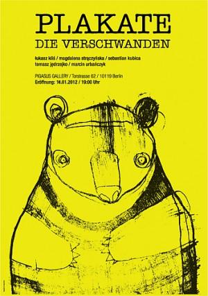 Plakate die verschwanden Magdalena Strączyńska Polnisches Ausstellungsplakat