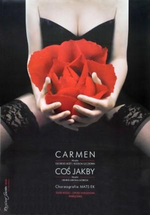 Carmen Georges Bizet Rosław Szaybo Polnisches Opernplakat
