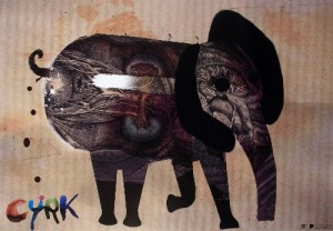 Zirkus Elefant Kaja Renkas Polnisches Zirkusplakat