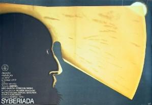 Sibiriada Andrey Konchalovskiy Wiesław Rosocha Polnische Plakate