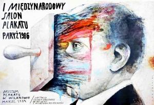 Internationale Plakatsalon, Paris 86 Wiktor Sadowski Polnisches Plakat