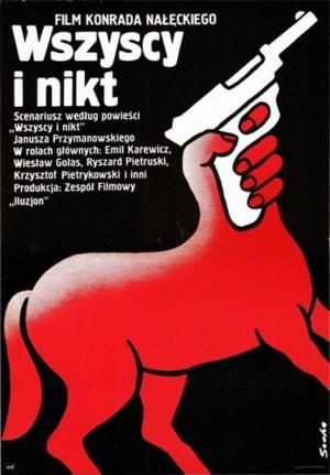 All and Nobody Romuald Socha Polnische Plakate