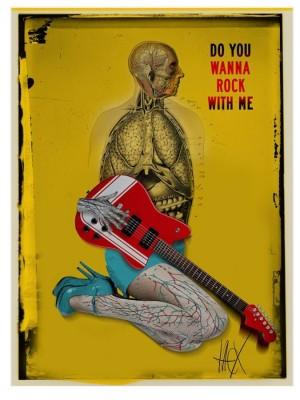 Do you wanna rock with me Jacek Staniszewski Polnisches Musikplakat