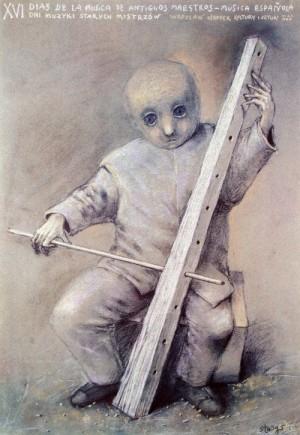Tage der Musik der alten Meister 16. Stasys Eidrigevicius Polnisches Musikplakat