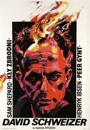 David Schweizer im Studio-Theater Waldemar Świerzy Polnische Plakate