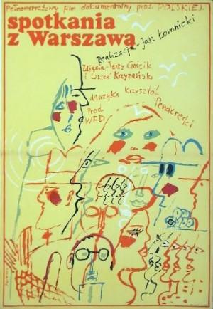 Begegnungen mit Warschau Waldemar Świerzy Polnische Plakate