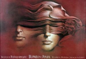 Romeo und Julia - Łódź Wiesław Wałkuski Polnische Plakate