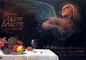 Babettes Fest Gabriel Axel Wiesław Wałkuski Polnische Plakate