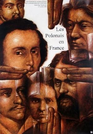 Polonais en France Leszek Wiśniewski Polnisches Plakat