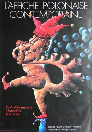 Affiche Polonaise Contemporaine Leszek Wiśniewski Polnisches Ausstellungsplakat