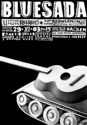 Bluesada - Bluesfestival XI Leszek Żebrowski Polnisches Musikplakat