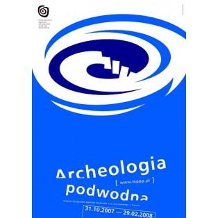 Unterwasserarchaologie Mirosław Adamczyk Polnische Ausstellungsplakate