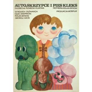 Auto, Geige und der Hund Klecks Rolan Bykov Hanna Bodnar Polnische Filmplakate
