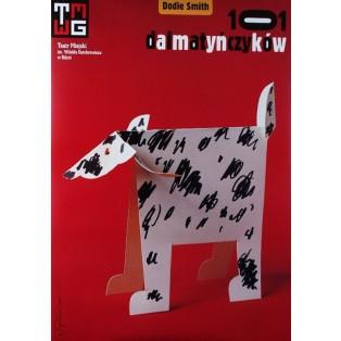 Hundertundein Dalmatiner - Dodie Smith Tomasz Bogusławski Polnische Theaterplakate