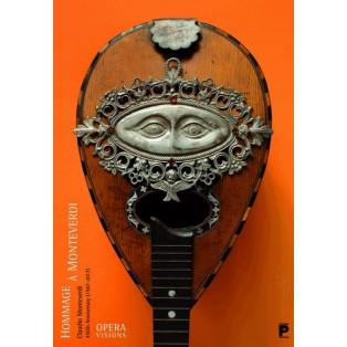 Hommage a Claudio Monteverdi Tomasz Bogusławski Polnische Musikplakate