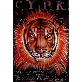 Zirkus Tiger Jerzy Czerniawski Polnische Zirkusplakate