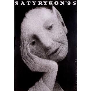 Satyrykon 1995 Jerzy Czerniawski Polnische Ausstellungsplakate
