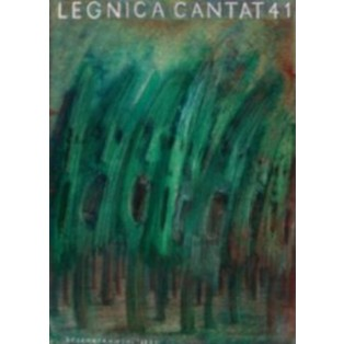 Legnica Cantat 41 Jerzy Czerniawski Polnische Musikplakate