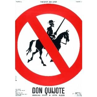Don Quijote Lex Drewinski Polnische Theaterplakate