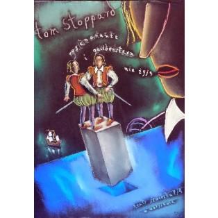 Rosenkranz und Guldenstern Tom Stoppard Andrzej Dudziński Polnische Theaterplakate