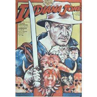 Indiana Jones und der Tempel des Todes Steven Spielberg Witold Dybowski Polnische Filmplakate