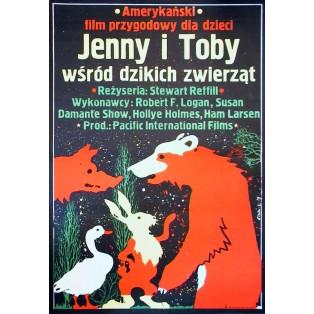 Abenteuer der Familie Robinson in der Wildnis Jakub Erol Polnische Filmplakate