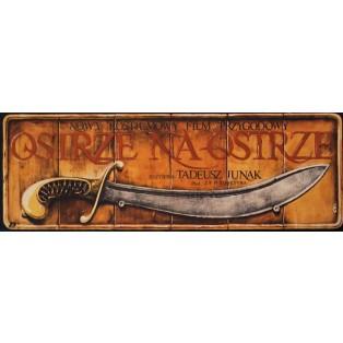 Blade Against Blade Jakub Erol Polnische Filmplakate