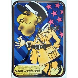 Gendarm vom Broadway Jakub Erol Polnische Filmplakate