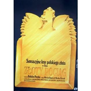 Goldene Zug Jakub Erol Polnische Filmplakate