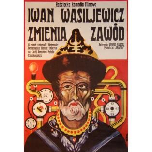 Iwan Wassiljewitsch wechselt den Beruf Jakub Erol Polnische Filmplakate